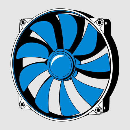 Computer fan Stock Vector - 13611004