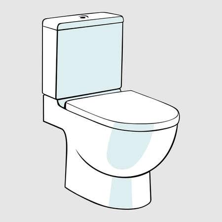 bowel: Tazza da gabinetto Vettoriali