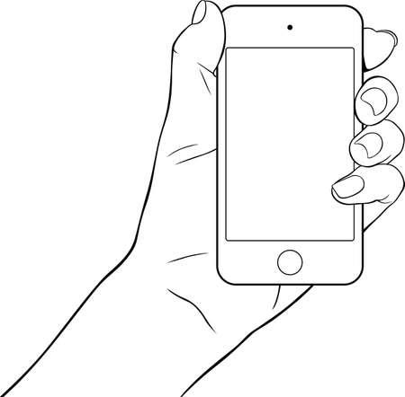 tablette pc: Une main tenant un Tablet PC petite