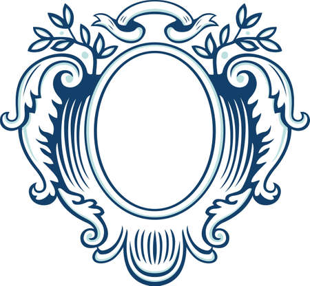 Ornate oval frame Stock Vector - 13705303