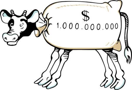 cash cow: Cash cow Illustration