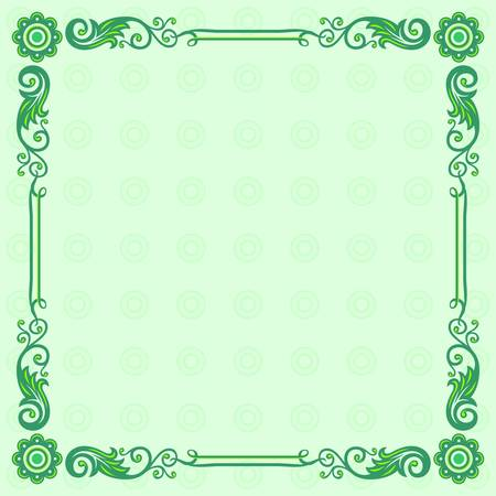 Elegance frame on color background Vector