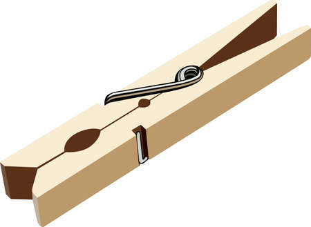 clothes pin: Clothers peg Illustration