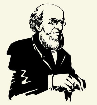 Portrait of man Vector
