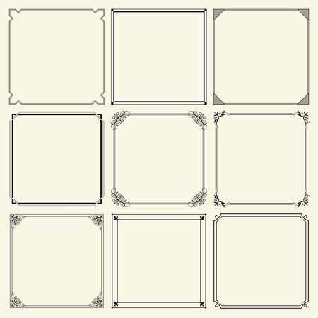 black borders: Decorative frames Illustration