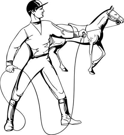 jockeys: Rider and horse