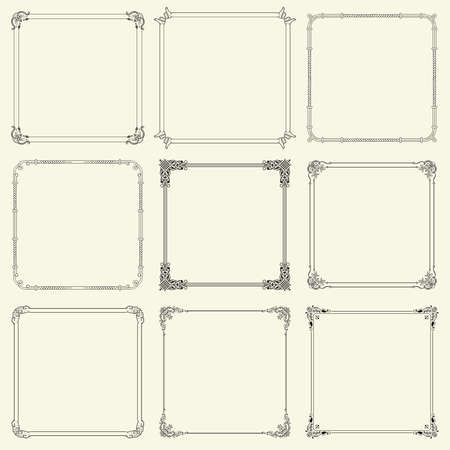 art deco background: Decorative frames  Illustration