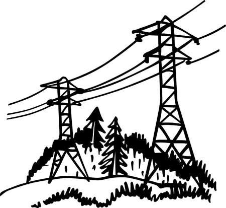 torres de alta tension: Línea de alta tensión