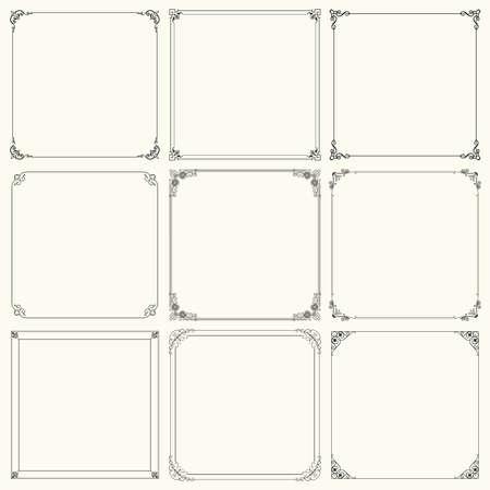 art deco background: Set of decorative frames  set