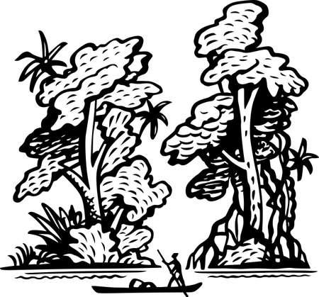 Tropical landscape Stock Vector - 14651566