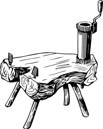 millstone: Vintage hand mill