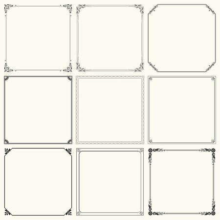 ornamental background: Set of decorative frames  set 19