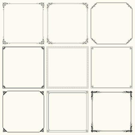 Set of decorative frames  set 19  Vector
