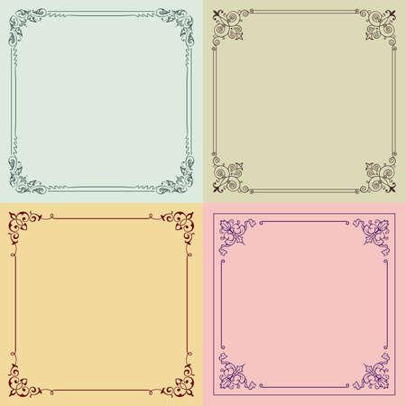 Four color decorative frames