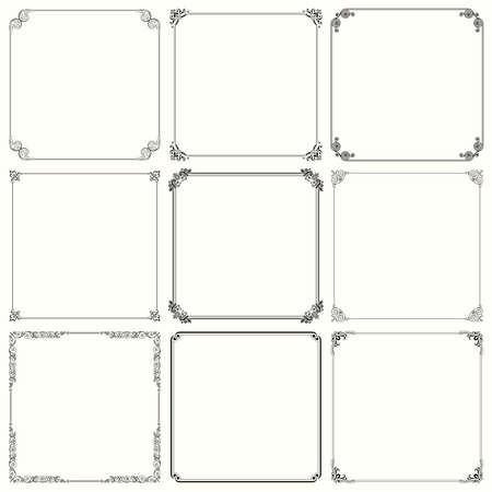 Set of decorative frames   Illustration