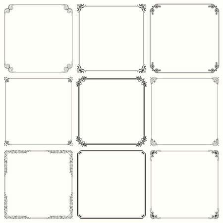 Set of decorative frames   Çizim