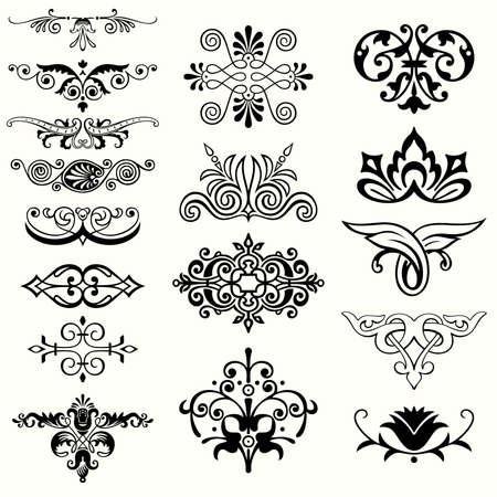 Set of design elements Stock Vector - 14750969
