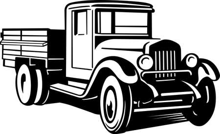 Oude auto vrachtwagen