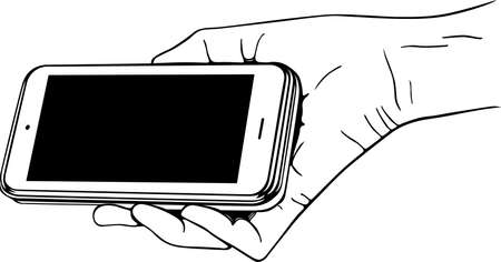 Mobile phone in the hand Stock Vector - 14935302