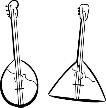 húros: Két zenei húros hangszerek