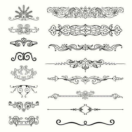 Conjunto de elementos de diseño Ilustración de vector