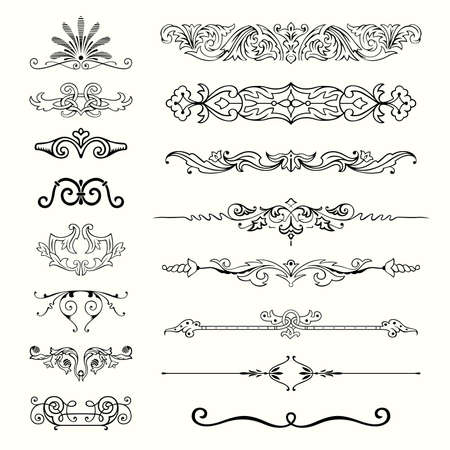 flourishes: Set of design elements