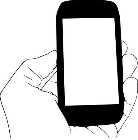 Mobile phone in the hand Stock Vector - 15809494