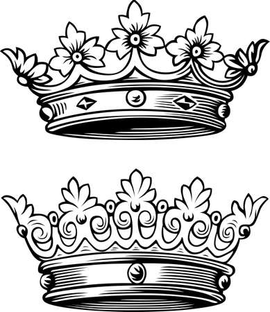 queen crown: Two beautiful crowns