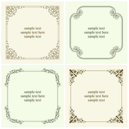 certificate frame: Set of decorative text frames