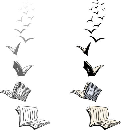 libros volando: Dos lotes de libros voladores