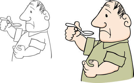 bitter: Man taking bitter drug
