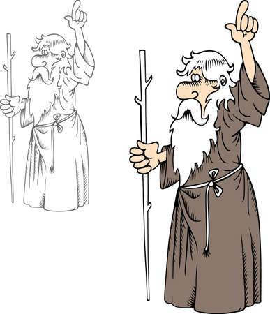 Profeet met stok