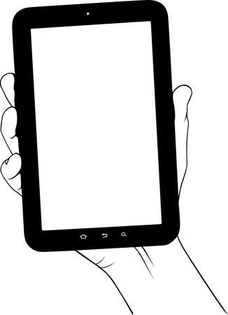 tablet pc in hand: Digital tablet pc in the hand