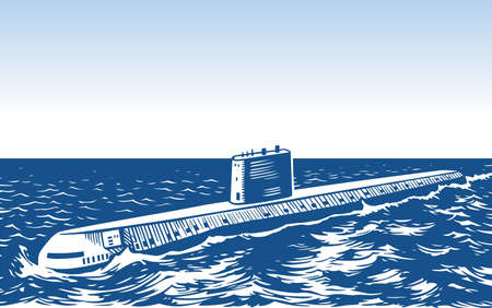 Atomic submarine Stock Vector - 16602735