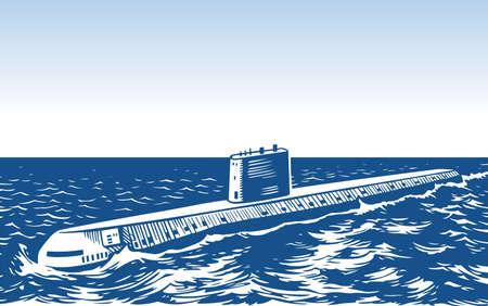 Atomic submarine Stock Vector - 16602735