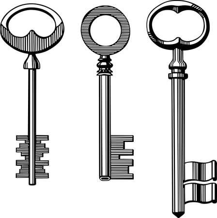 Vintage keys Stock Vector - 16602729