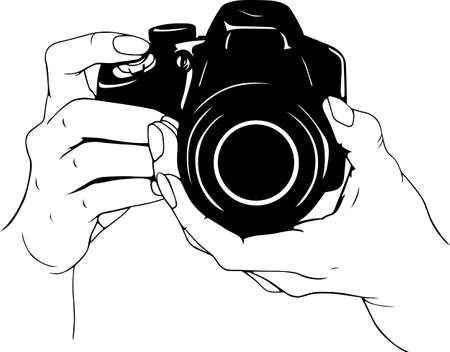 dslr camera: Camera in the hands