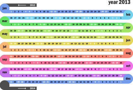 Chain calendar 2013 Stock Vector - 16643539