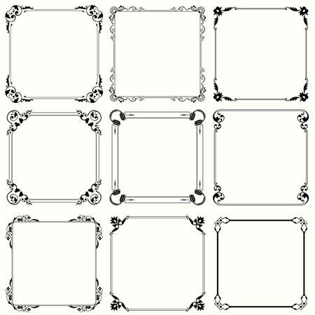 Decorative frames  set 29  Illustration