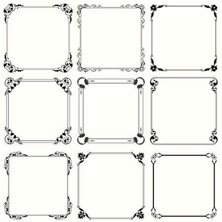 art deco border: Decorative frames  set 29  Illustration