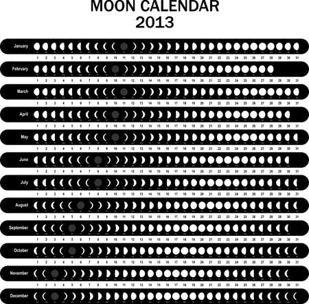 Moon calendar 2013 Stock Vector - 16643541