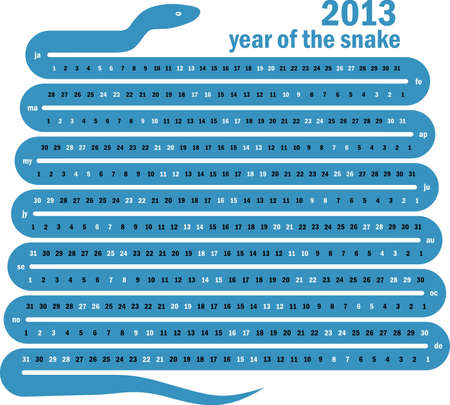 2013 year of the snake Stock Vector - 16643538