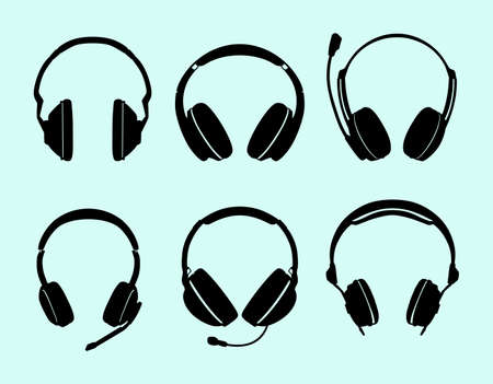 headphones icon: Set of headphones