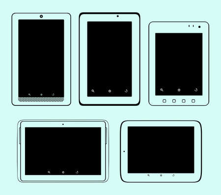 Set of tablet pc Stock Vector - 16672907