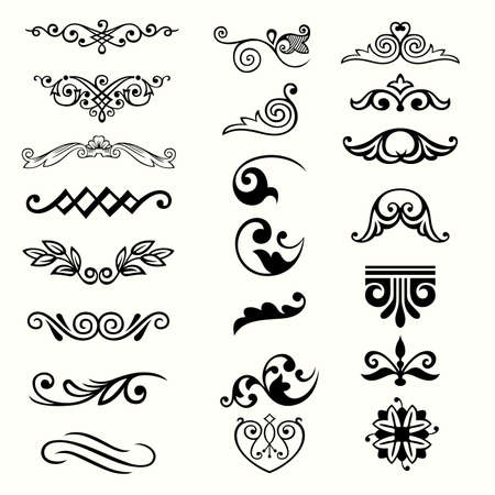 calligraphic: Design elements