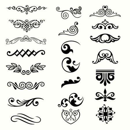 Los elementos de diseño Ilustración de vector