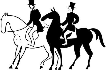 Two horsemen Stock Vector - 16672894