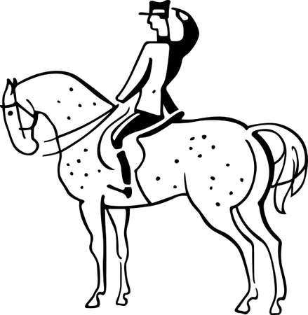 cavalier: Horseman saluting