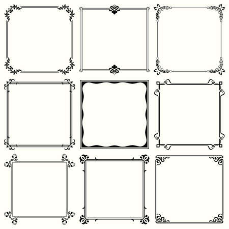 art deco border: Decorative frames  set 31