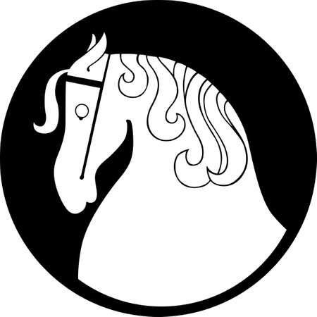 White Horse symbol Stock Vector - 16672929